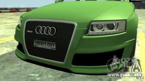 Audi RS6 Avant 2010 Stock para GTA 4 visión correcta