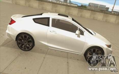 Honda Civic SI 2012 para vista lateral GTA San Andreas