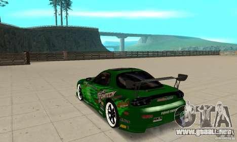 Mazda RX-7 ings para GTA San Andreas vista posterior izquierda
