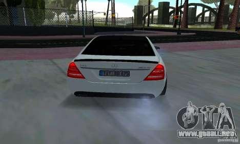 Mercedes-Benz S65 AMG Edition para GTA San Andreas vista hacia atrás