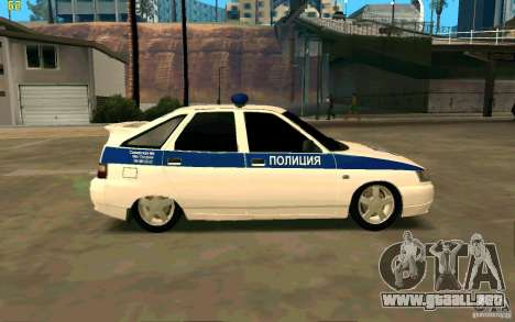 Policía Vaz-2112 para GTA San Andreas left