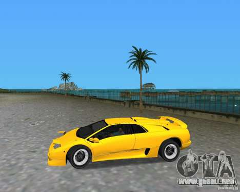 Lamborghini Diablo SV para GTA Vice City visión correcta