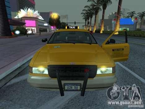 Un taxi de Gta IV para GTA San Andreas vista posterior izquierda