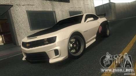 Chevrolet Camaro SS Dr Pepper Edition para vista inferior GTA San Andreas