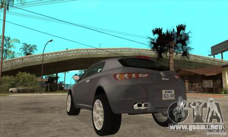 Alfa Romeo Brera de NFSC para GTA San Andreas vista posterior izquierda
