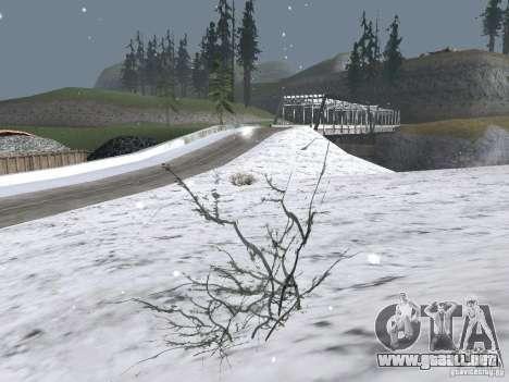 Nieve para GTA San Andreas segunda pantalla