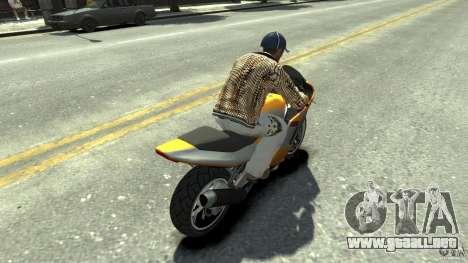 White clothes pack para GTA 4 adelante de pantalla