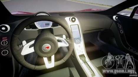 McLaren MP4-12C [EPM] para GTA 4 vista hacia atrás