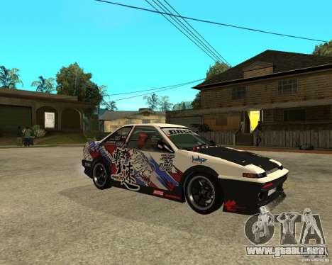 Yoshikazu AE86 para la visión correcta GTA San Andreas