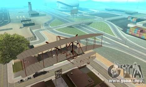 The Wright Flyer para visión interna GTA San Andreas
