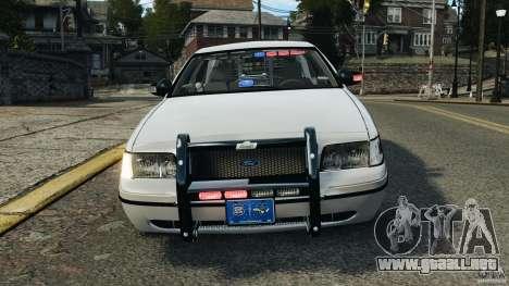 Ford Crown Victoria Police Unit [ELS] para GTA 4 vista desde abajo