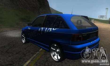 Opel Astra Time Attack para GTA San Andreas vista posterior izquierda