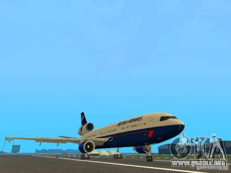 McDonell Douglas DC10 British Airways para GTA San Andreas left