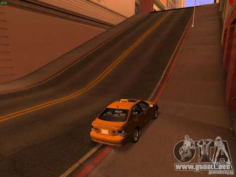 Lexus IS300 Taxi para GTA San Andreas left