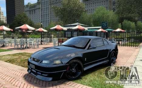 Ford Mustang Cobra R para GTA 4 vista hacia atrás
