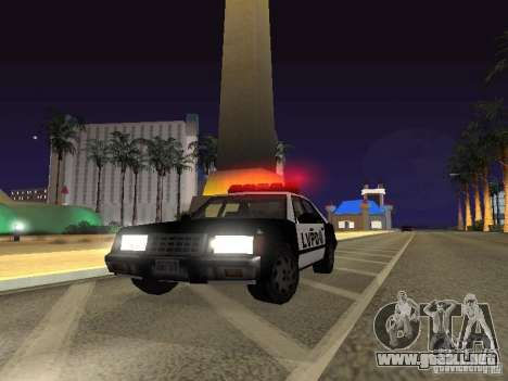 LVPD Police Car para GTA San Andreas vista hacia atrás