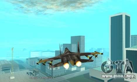 Su-37 Terminator para visión interna GTA San Andreas