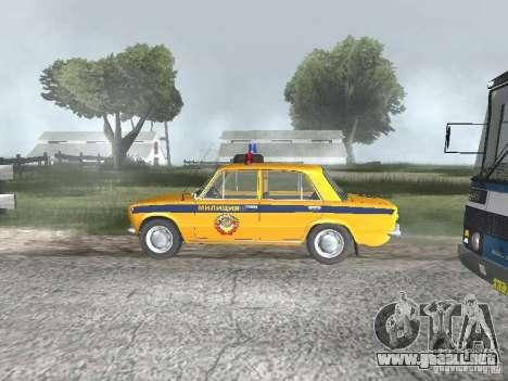 POLICÍA DE TRÁNSITO VAZ 21016 para GTA San Andreas vista posterior izquierda