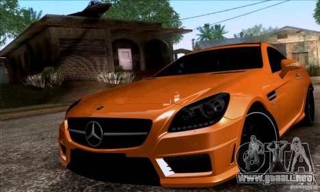 Mercedes Benz SLK55 R172 AMG para GTA San Andreas vista posterior izquierda