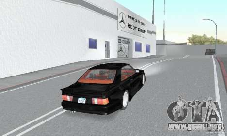 Mercedes-Benz C126 500SEC KS para GTA San Andreas left