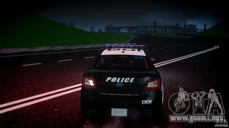 Ford Taurus Police Interceptor 2011 [ELS] para GTA 4 interior