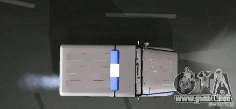 Policía UAZ-31512 para visión interna GTA San Andreas