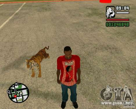 Tigre en GTA San Andreas para GTA San Andreas sucesivamente de pantalla