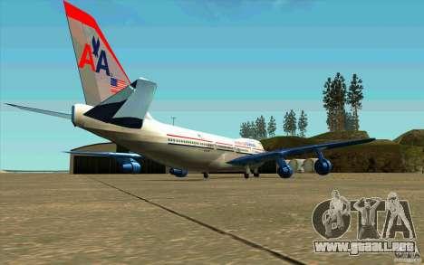 B-747 American Airlines Skin para la visión correcta GTA San Andreas