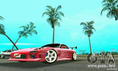 Mazda RX7 Charge-Speed para GTA Vice City vista lateral izquierdo
