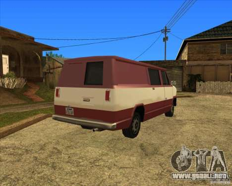 Transporter 1987 - GTA San Andreas Stories para GTA San Andreas vista posterior izquierda