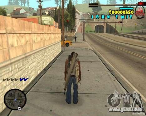 HUD Adidas para GTA San Andreas segunda pantalla