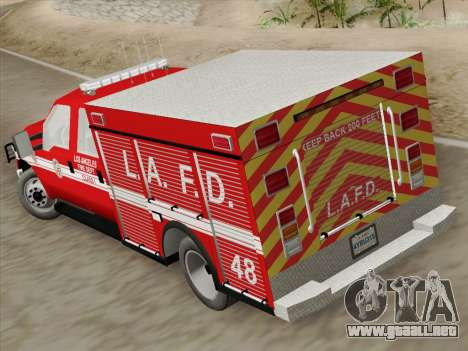 Ford F-350 Super Duty LAFD para visión interna GTA San Andreas