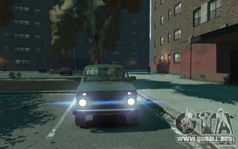 VAZ Niva 21218 para GTA 4 vista hacia atrás