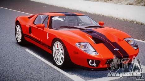 Ford GT 2006 v1.0 para GTA 4 vista hacia atrás