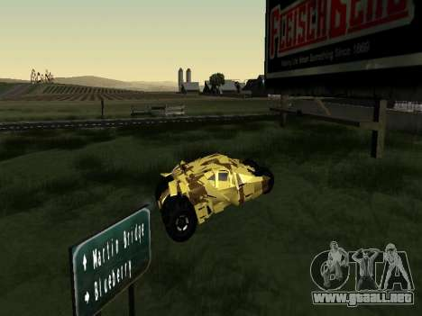 Army Tumbler v2.0 para GTA San Andreas vista posterior izquierda