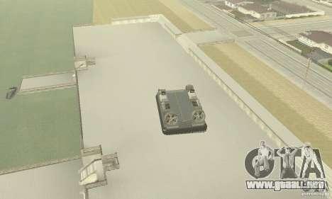 Landing Craft Air Cushion para GTA San Andreas vista hacia atrás