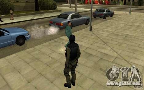 Fuerzas especiales-CJ para GTA San Andreas sucesivamente de pantalla