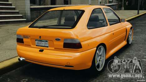 Ford Escort RS Cosworth para GTA 4 Vista posterior izquierda