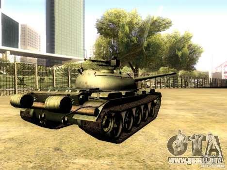 Type 59 V2 para GTA San Andreas vista posterior izquierda