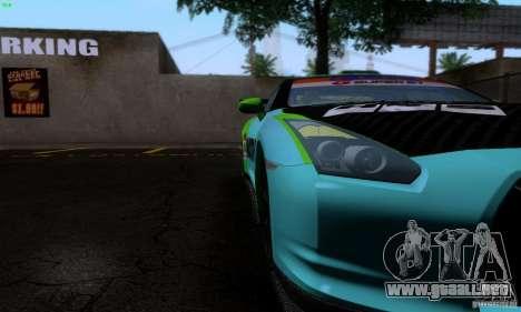 Nissan GTR R35 Tuneable para GTA San Andreas interior