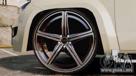Volkswagen Amarok Light Tuning para GTA 4 vista hacia atrás