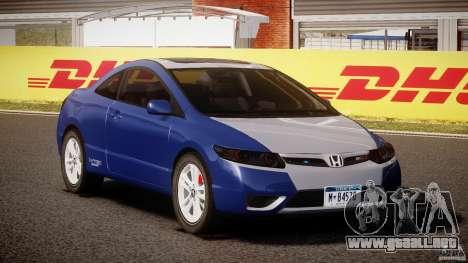 Honda Civic Si Coupe 2006 v1.0 para GTA 4 vista hacia atrás