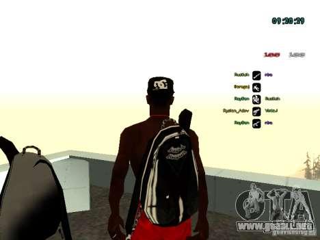 Mochila-paracaídas para GTA: SA para GTA San Andreas segunda pantalla