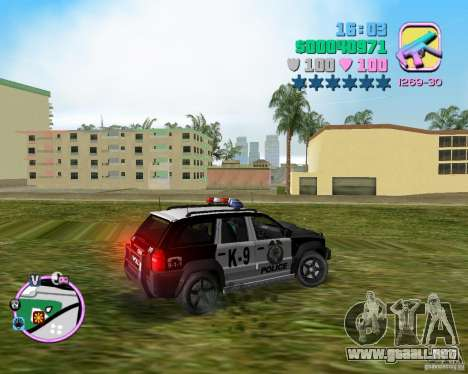 Jeep Grand Cheeroke COPSUV FROM NFS:MW para GTA Vice City left