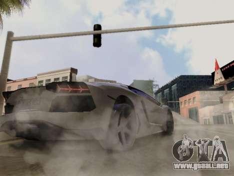 Lamborghini Aventador LP700-4 Vossen para vista lateral GTA San Andreas