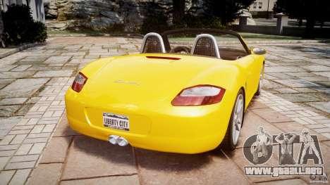Porsche Boxster S para GTA 4 Vista posterior izquierda