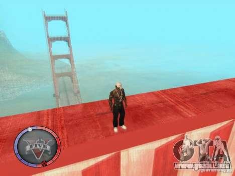 GTA 5 HUD para GTA San Andreas quinta pantalla