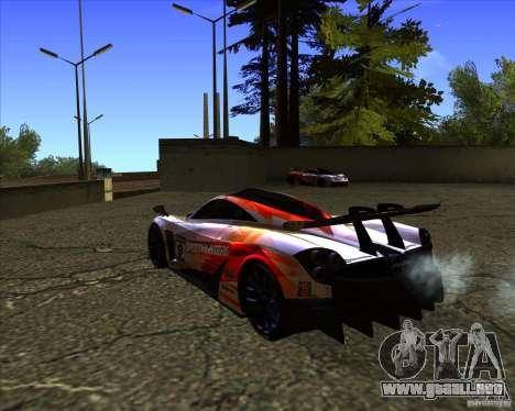 Pagani Huayra SHE para GTA San Andreas left