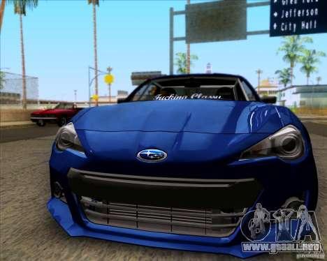 Subaru BRZ Stance para GTA San Andreas left