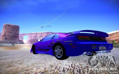 Nissan 300ZX Twin Turbo para vista inferior GTA San Andreas
